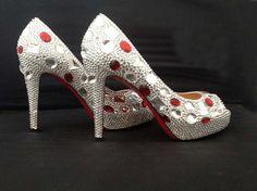 b925744e4bcc Gorgeous Fashion Shoes for wedding ceremony luxury Crystal Rhinestone Wedding  Bridal Shoes lady party dress shoes