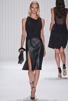 Love this take on black on black, leather and silk. J. Mendel Spring 2013. #jmendel #nyfw