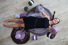 Szydełkowy szał ;) | crochet, t-shirt yarn, rug #owoceszycia