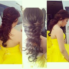 simply cool hairstyle for graduation party