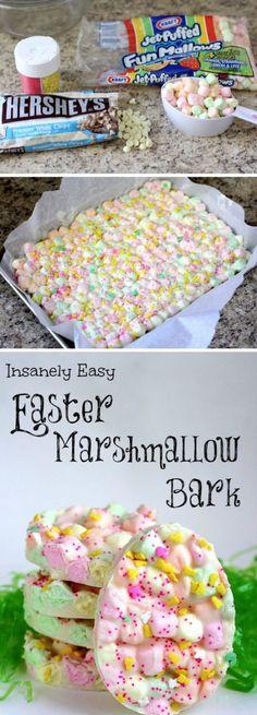 Easter Marshmallow Bark