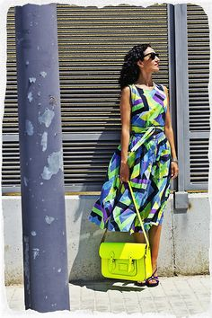 Fluor Geometric Print (by Andrea  Villafane) More info in www.farawayheels.com fashion blog