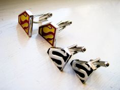 Superman 2 pairs of Cuff Links  Stainless steel by LondonDesign, £28.00