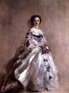 Princess Royal Victoria dressed for her debut 1856. This is the daughter of Queen Victoria and Albert