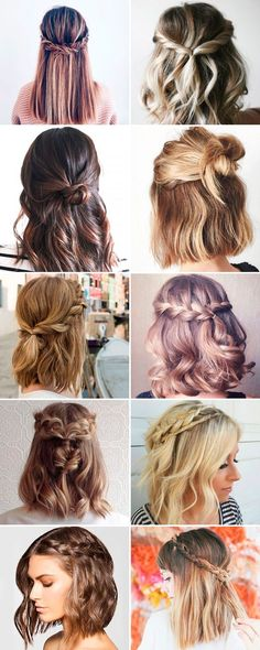 Trendy hairstyles 2017 – 65 photos ♡ ♡ Be aware … - Best New Hair Styles Trendy Hairstyles, Braided Hairstyles, Creative Hairstyles, Fall Hairstyles, Pulled Back Hairstyles, Hairstyles Videos, Medium Hair Styles, Curly Hair Styles, Hair Medium