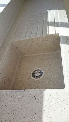 Corian colour coded sink with recess drainer Corian Colors, Corian Sink, Kitchen Sink, Kitchen Ideas, Kitchens, Colour, Space, Fabric, Home Decor