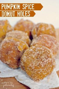 The BEST Pumpkin Spice Recipes Delicious Pumpkin Spice Donut Recipe. This is perfect for fall and they are baked instead of fried! Pumpkin Spice Donut Recipe, Pumpkin Recipes, Fall Recipes, Baked Pumpkin, Recipe Spice, Pumpkin Pumpkin, Recipe Recipe, Pumpkin Puree, Baked Donut Holes