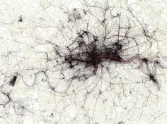London- mapped by photos uploaded to Flickr and Picassa.  By modes of transportation