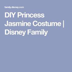 DIY Princess Jasmine Costume   Disney Family