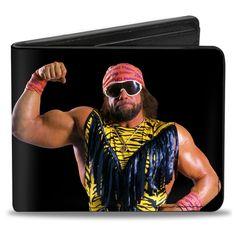 7b3f824778 WWE Macho Man Randy Savage Flex Pose Bi-Fold Wallet