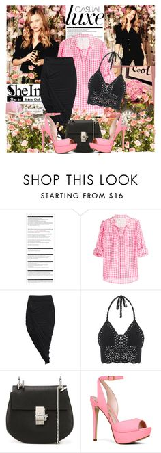 """""""SheIn skirt"""" by parisanka ❤ liked on Polyvore featuring Arche, Diane Von Furstenberg, Chloé, ALDO, women's clothing, women, female, woman, misses and juniors"""