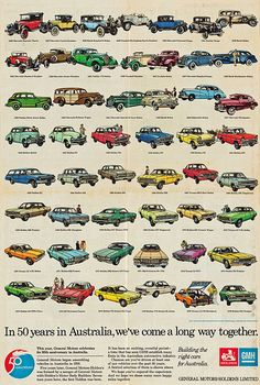 50 Years in Australia - 1976 Holden Anniversary Poster