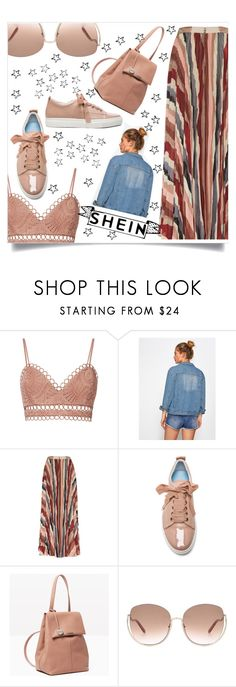 """Shein star"" by puljarevic ❤ liked on Polyvore featuring Zimmermann, Alice + Olivia, Lanvin, Max&Co., Chloé, StreetStyle, contest, denim, denimjacket and shein"
