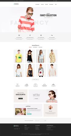 Homepage - eCommerce Fashion Responsive Web Design Theme - Modern - Unique - TemplateTrip