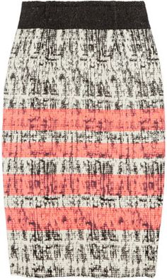 Giambattista Valli Striped tweed skirt