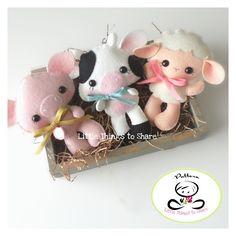 Farm Babies-Set of Three Farm Animals-PDF files-sewing