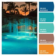 Caribbean Color for backyard electrical spools