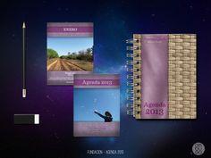 Tapa agenda y páginas internas - Fundación Pequeños Gestos Grandes Logros (año 2013)