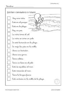 Cositas de AL y PT: Lectura de imágenes Spanish 1, Spanish Class, Learning Spanish, Speech Language Therapy, Speech And Language, Dual Language Classroom, Spanish Worksheets, Therapy Activities, Reading Comprehension