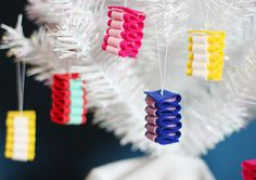Ribbon Candy Felt Christmas Ornament by myhideaway