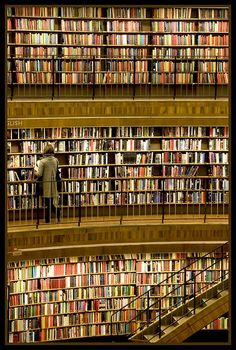 Bibliotheek, Stockholm, Zweden