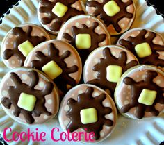 Pancake Decorated Cookies Pajama Party Cookie Favors by CookieCoterie, $28.00