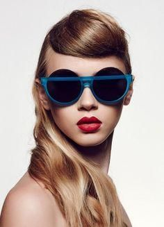 blue, weird, round & oval sunglasses