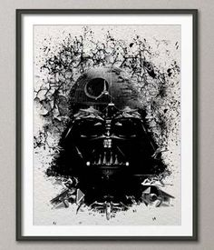 Amazing Abstract Picture Of Darth Vader And Death Star. Now On Sales At StarWarsShopping.com