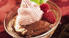 Delicious chocolate and raspberry makes a wonderful mousse – perfect dessert to be served.