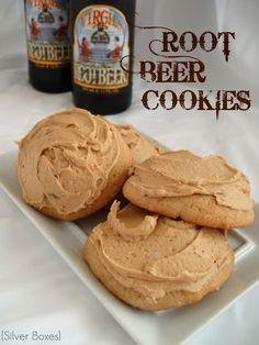 Root Beer Cookies w/ Root Beer Frosting