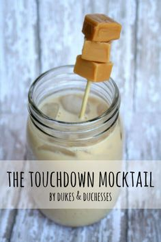 the touchdown mocktail, a non-alcoholic drink that tastes like a root beer float with a touch of caramel