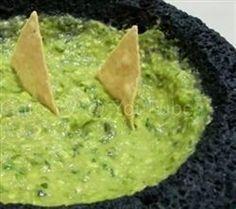 Guacamole in a Molcajete Mexican Recipe