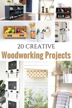 Easy Woodworking Projects 20 Creative Beginner Woodworking Projects for the Serial DIYer. DIY projects ranging from easy woodworking projects to more detailed DIY woodworking projects. Some include free woodworking project plans for you to build yourself. Wood Projects For Beginners, Woodworking Projects That Sell, Woodworking Classes, Wood Working For Beginners, Popular Woodworking, Woodworking Furniture, Diy Wood Projects, Woodworking Crafts, Woodworking Plans