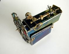 Steampunk  kaleidoscope with turning wheel. by slotzkin on Etsy,