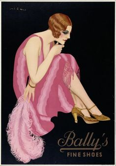 Plakat Bally's - Fine shoes (Originaltext) 1926 Bally's - Fine shoes-Plakat Gestaltung: Federico Ribas