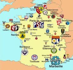 Le Mans, Chamois, Auxerre, Amiens, Ardennes, Reims, Brest, Le Havre, Maps