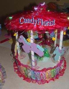 CANDY CAROUSEL DIY Instructions for Sm & Lg Step by CandyFlorist
