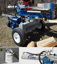 This heavy-duty Powerhorse® Horizontal/Vertical Log Splitter is engineered to combine strength and innovation, creating a log splitter that is powerful, efficient and easy-to-use. Fall Clean Up, Log Splitter, Logging Equipment, Cool Tools, Firewood, Innovation, Strength, Engineering, Backyard