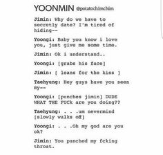 I don't even ship yoonmin and this cracked me up lmao