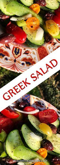 Greek Salad Restaurant, Greek Salad Bon Appetit, Greek Salad No Lettuce, Greek Salad In A Greek Salad Recipe Authentic, Easy Greek Salad Recipe, Greek Salad Recipes, Easy Salad Recipes, Greek Yogurt Salad Dressing, Greek Chicken Salad, Greek Quinoa Salad, Greek Salad Pasta
