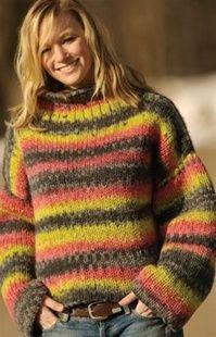 "Sundance Pullover free pattern Loom: 28"" Knitting Board Knitting Board with 62+ pins"