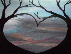 Awww...So sweet!  Brierley Heart - Acrylic Painting. #Art #Heart #Love