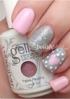 15+ Pink Valentine's Day Nail Art Designs & Ideas 2017 | Vday Nails