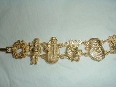 christmas bracelet vintage signed by qualityvintagejewels on Etsy, $18.00