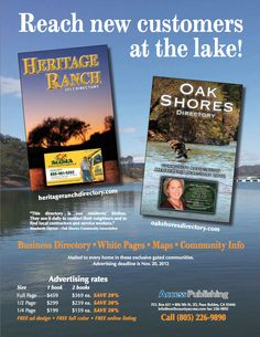 New business directories in works for Heritage Ranch and Oak Shores communities - Paso Robles Daily News