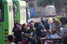 النظام يستكمل تهجير مدنيي ومقاتلي القطاع الأوسط في الغوطة