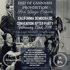 After an amazing night of community with the San Fernando Valley Cannabis Coalition @collectivelifestylela we are excited to announce the next steps with our amazing friends from @latinosforcannabis to continue this convo with our politically engaged progressive friends.  Join us Friday 2/23 for this month's Special Edition: End of Prohibition Event- California State Democratic Convention After Party🔥  2018 has been a time of major changes within the Cannabis community, most notably, the…