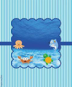 Fundo do mar – Kit festa infantil grátis para imprimir – Inspire sua Festa ®