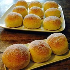 A piece of healthy world: donuts from the oven- Ein Stück heile Welt : Krapfen aus dem Backofen A piece of healthy world: donuts from the oven - Donut Recipes, Baking Recipes, Cake Recipes, Beignets, Cheesecake Thermomix, German Baking, Sweet Pastries, Baked Donuts, Donuts Donuts