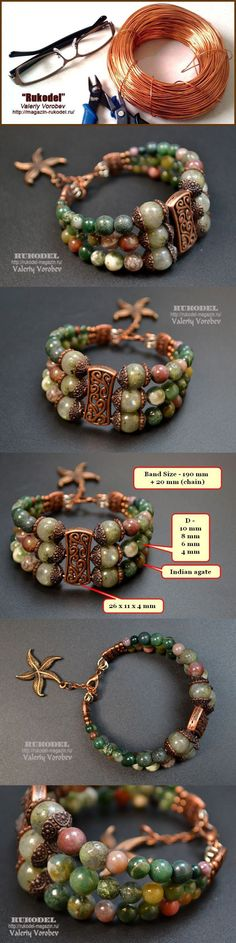 DIY Bijoux boho bracelet tutorial. Love the starfish charm!